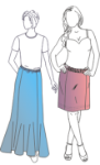 Picture of Casual Gored Skirt