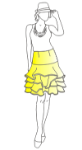 Picture of Classic Flounced Skirt